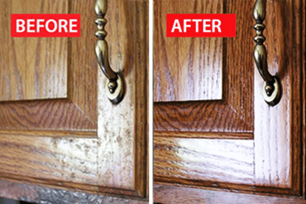 How To Degrease Wood Kitchen Cabinets 1000 Ideas About Wood Cabinet Cleaner On Cabinet Cleaner