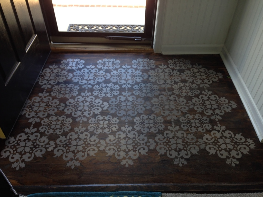 Stenciled foyer 04