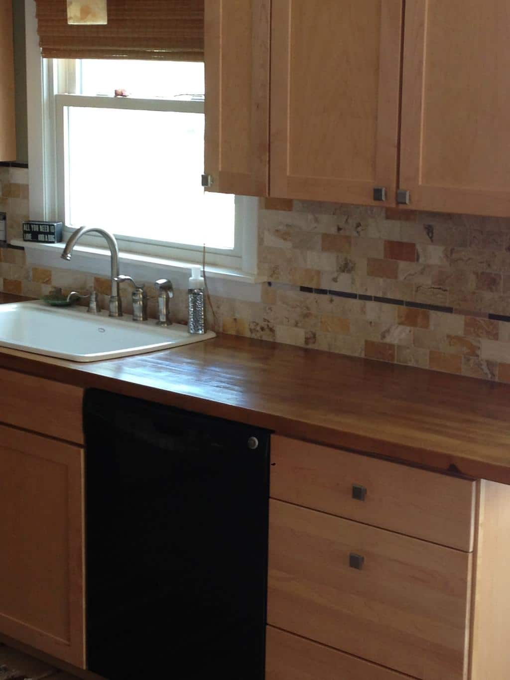 Travertine Tile Backsplash 2 Cabinet Girls