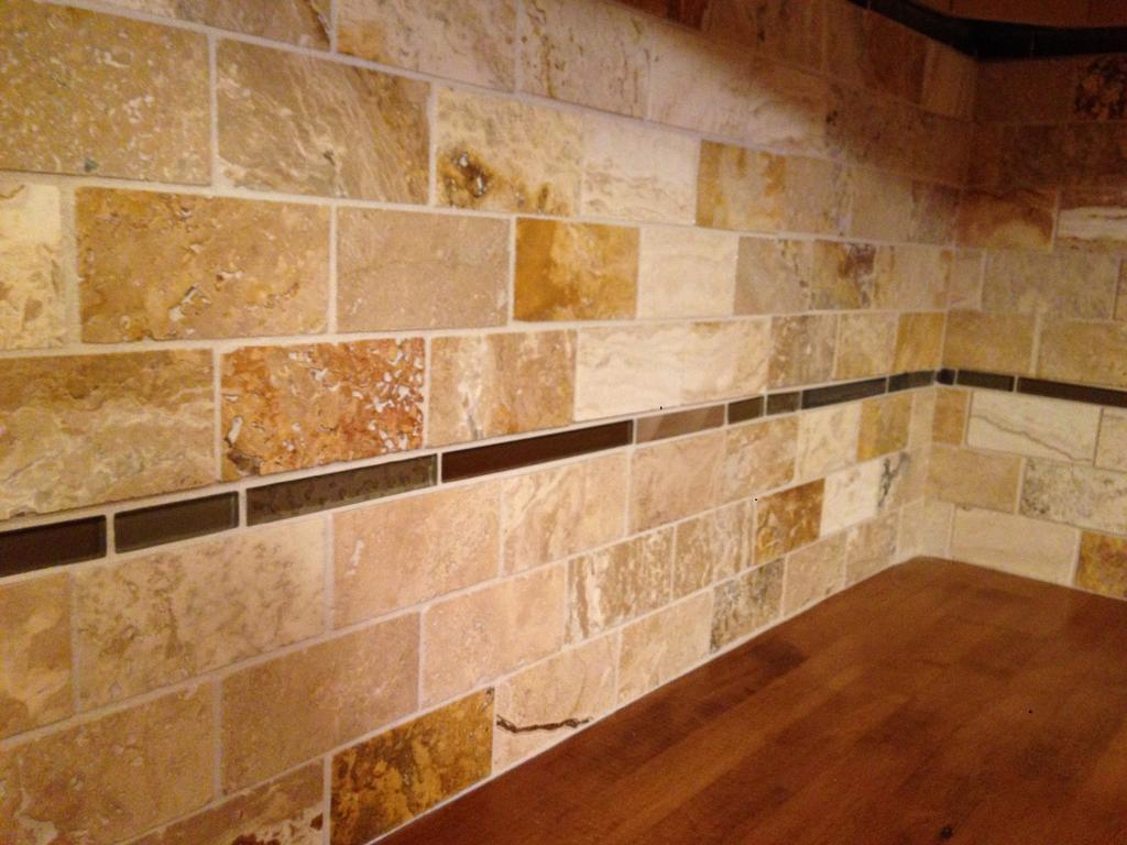 Travertine Tile Backsplash Cabinet Girls