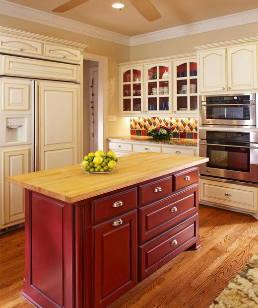 make your kitchen island stand out with paint or stain 2 cabinet girls. Black Bedroom Furniture Sets. Home Design Ideas