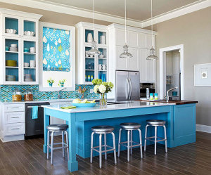 Have your island match your backsplash