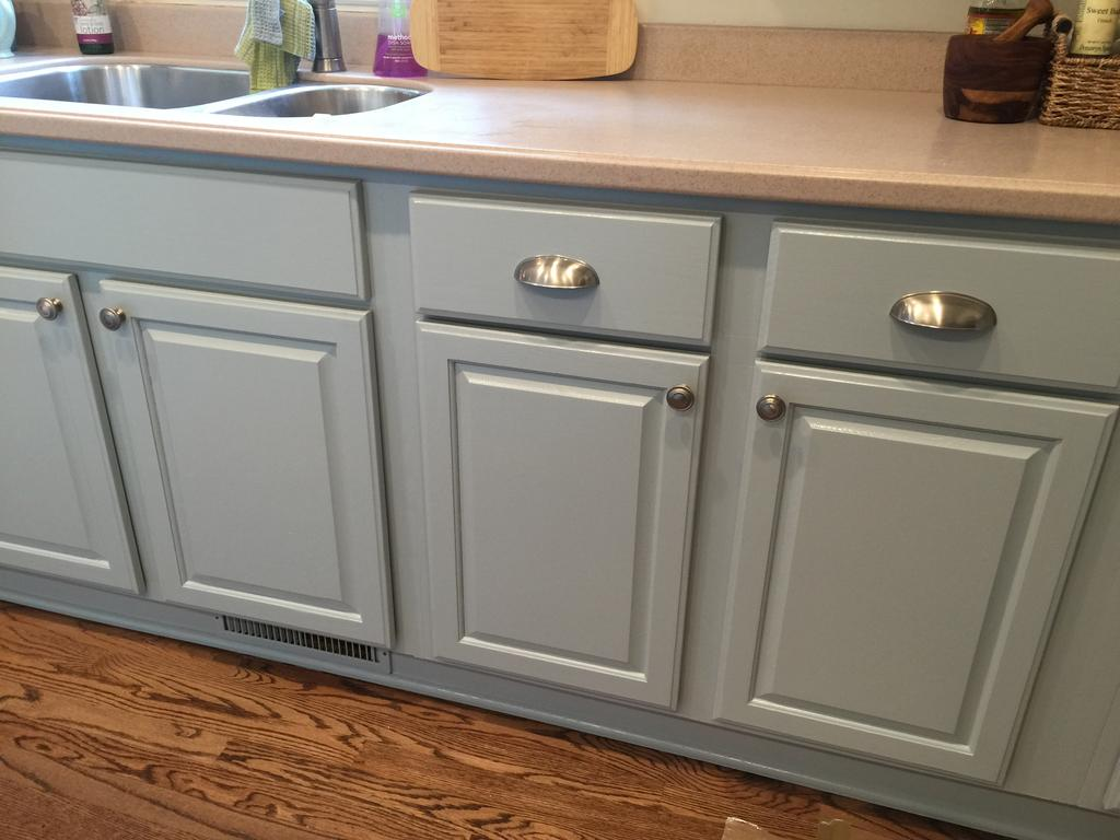 Colonial Pine Wedgewood Gray 2 Cabinet Girls