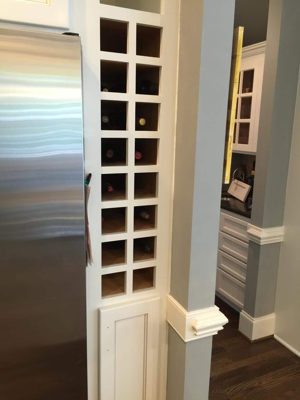 Swiss Coffee cabinets & Sand Dune pinstripe glaze - 2 ...