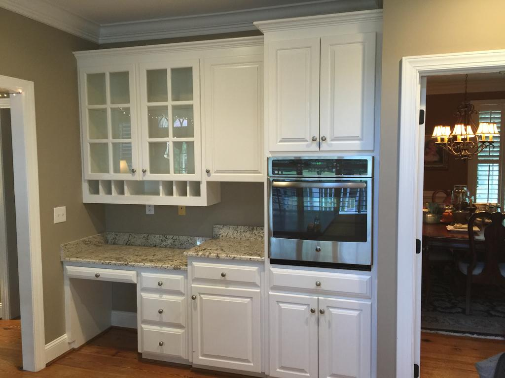 Snowfall white chelsea gray 2 cabinet girls for Chelsea gray kitchen cabinets