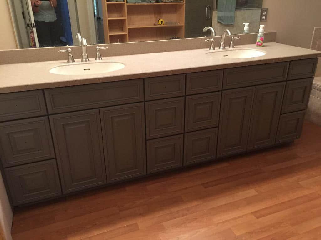 Dark Grey Bathroom Vanity