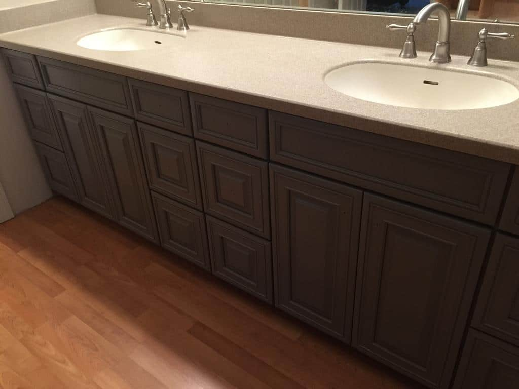 Chelsea Gray Bathroom Vanity 2 Cabinet Girls