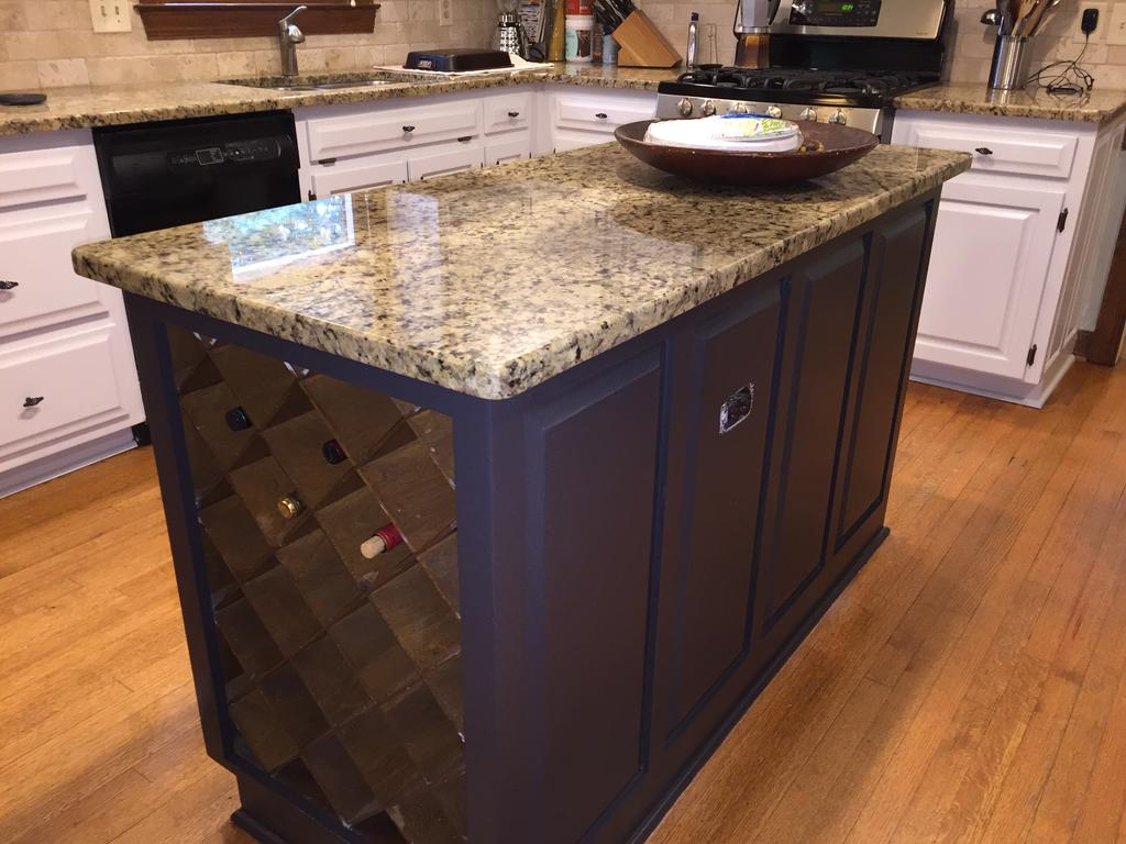 Gray Cloud Cabinets Amp Sherwin Williams Caviar Island 2