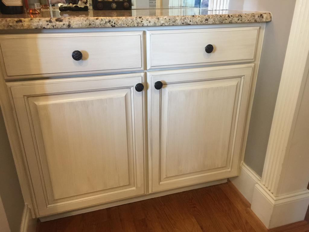 Sherwin Williams Antique White And Province Blue 2 Cabinet Girls