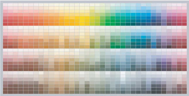 Benjamin Moore color chart