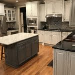 Federal Gray With Glaze 2 Cabinet Girls