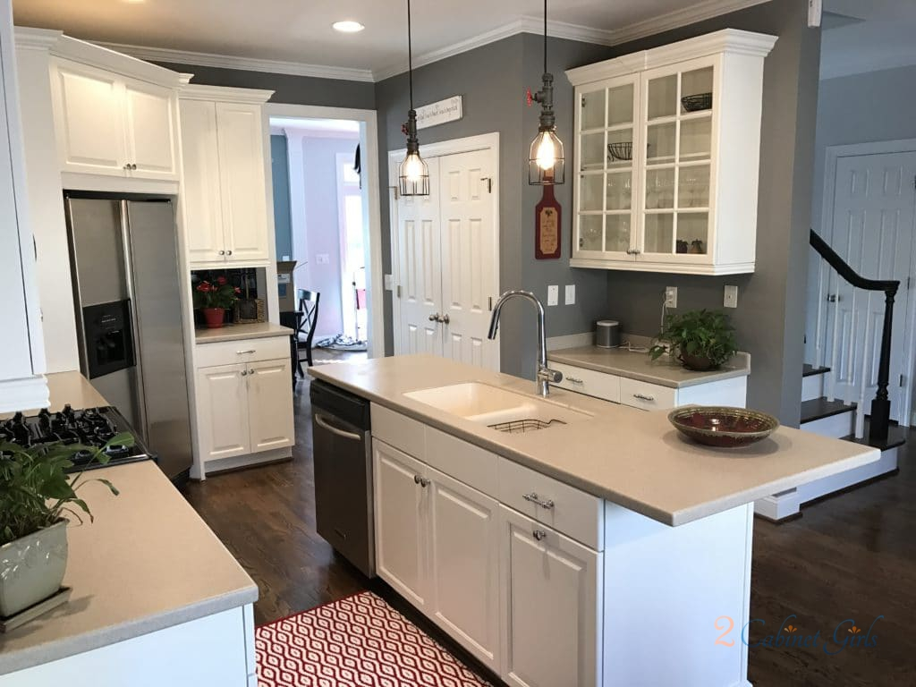 Simply White Kitchen 2 Cabinet Girls