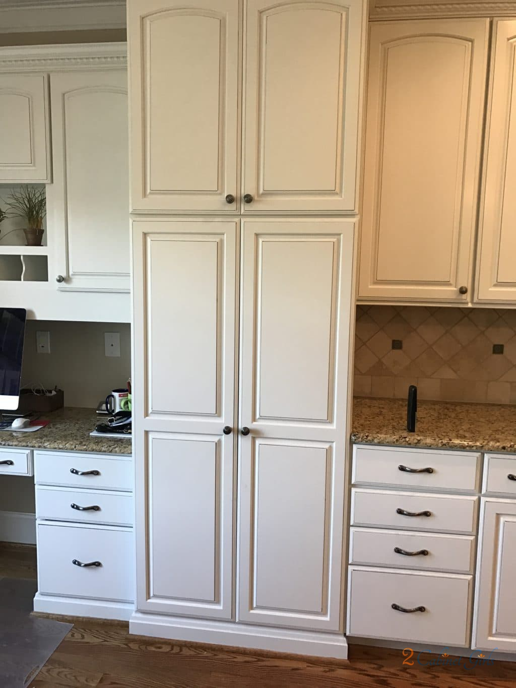 Dove Wing Kitchen w/Wenge Island - 2 Cabinet Girls