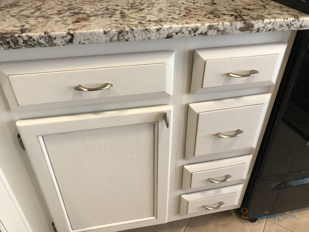 Kitchen Cabinets Painted Dove White With Pewter Glaze In