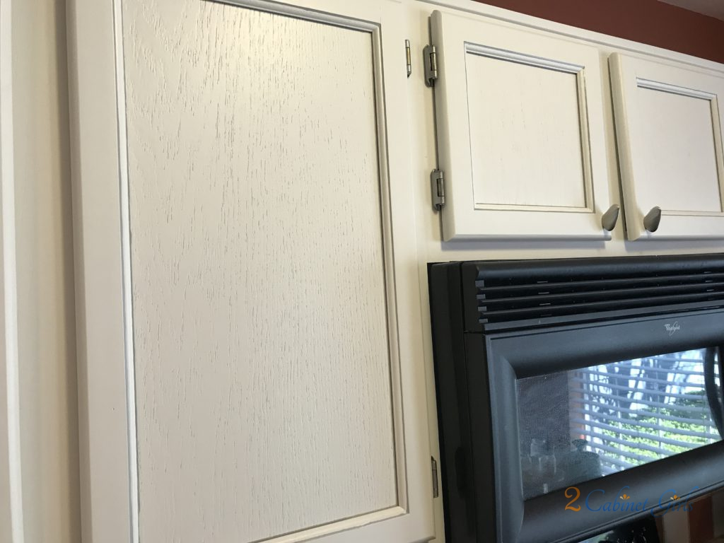 Kitchen cabinets painted dove white with pewter glaze in for Benjamin moore pewter 2121 30