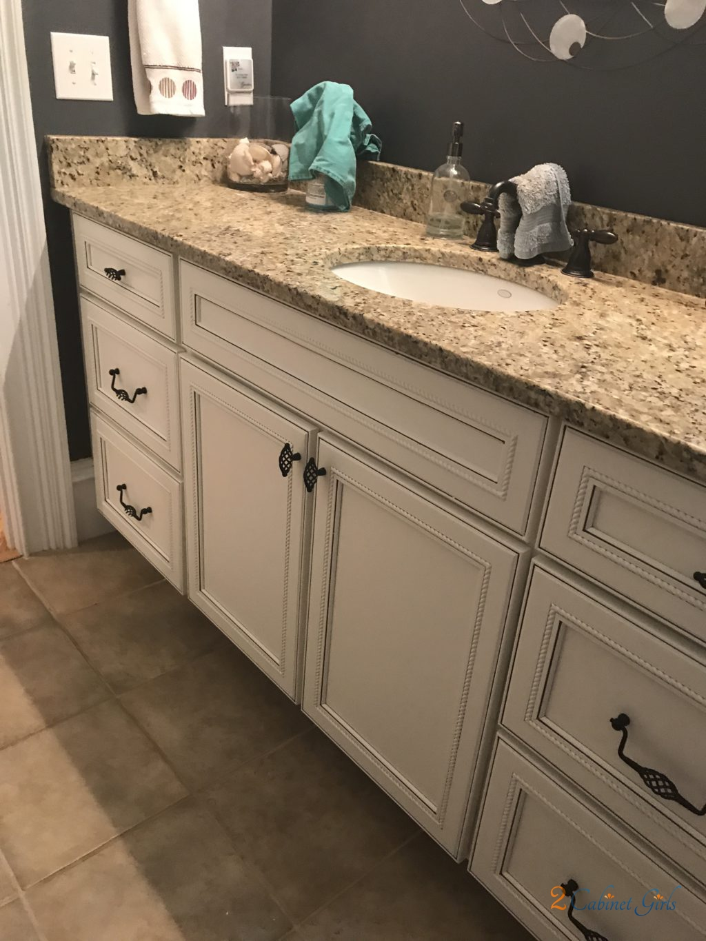 Bathroom Vanity Painted Acadia White At Baraham