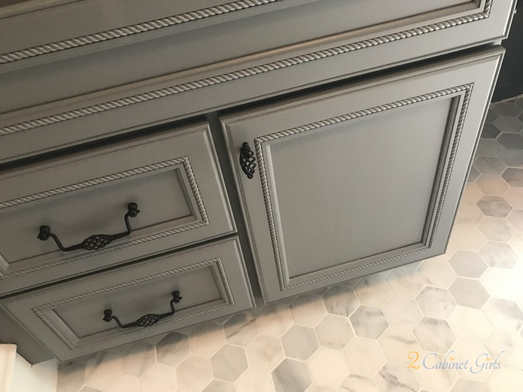 Bathroom Vanity Painted Cityscape Gray At Baraham Neighborhood In Wake Forest Nc