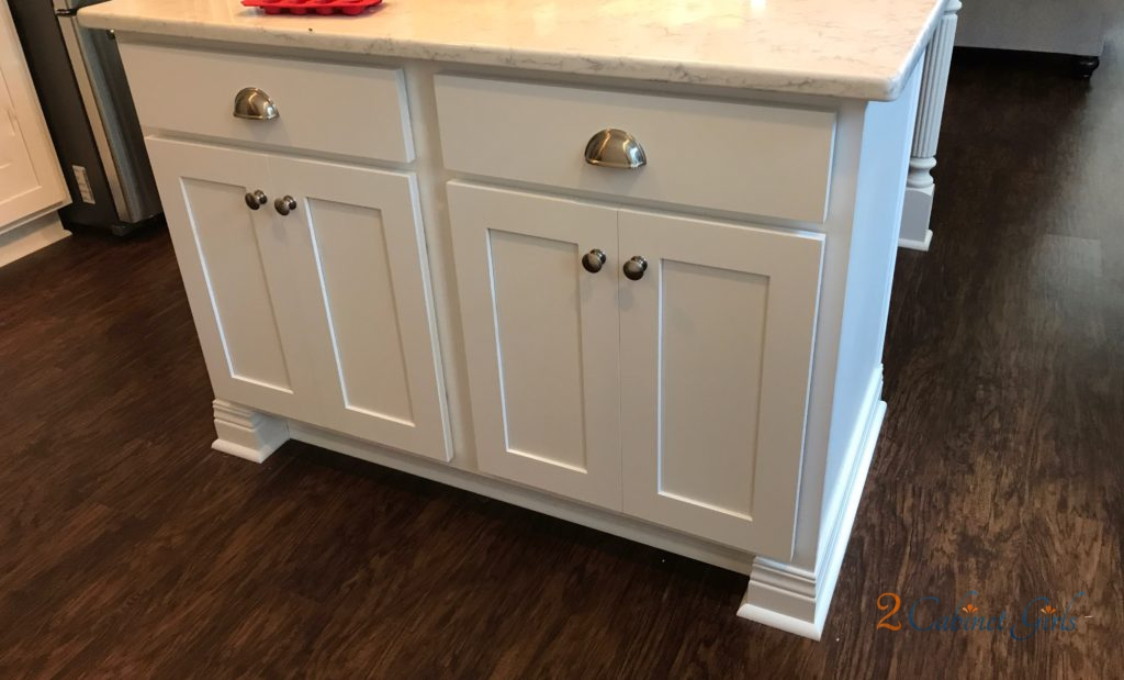 Kitchen Island And Bathroom Vanity Painted Hudson Bay Blue In Wake Forest Nc