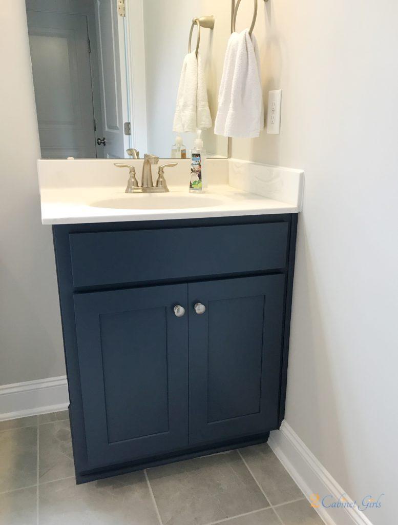 Kitchen Island And Bathroom Vanity Painted Hudson Bay Blue