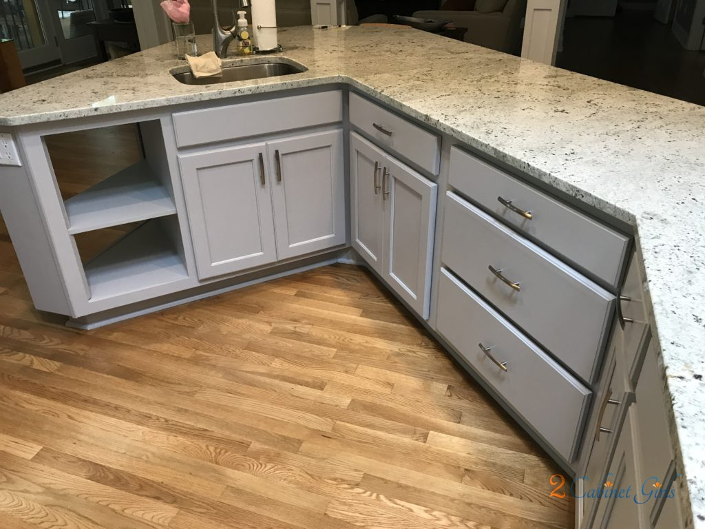 Kitchen Cabinets and Island Painted Essential Shade in ...