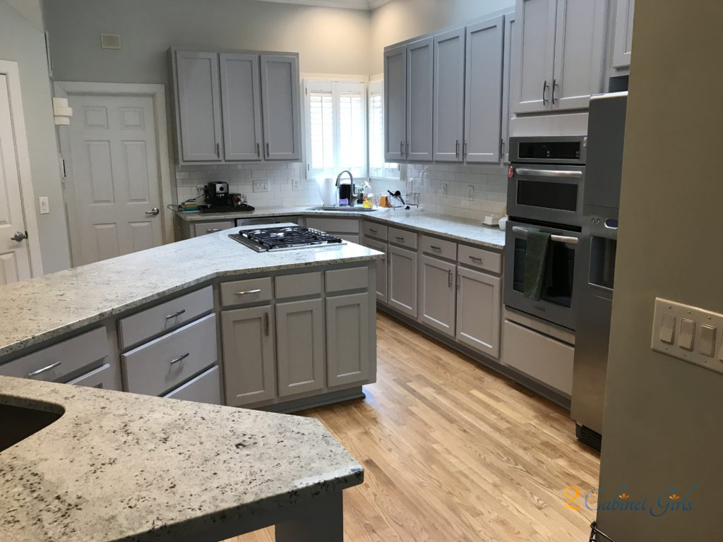 Kitchen Cabinets And Island Painted Essential Shade In