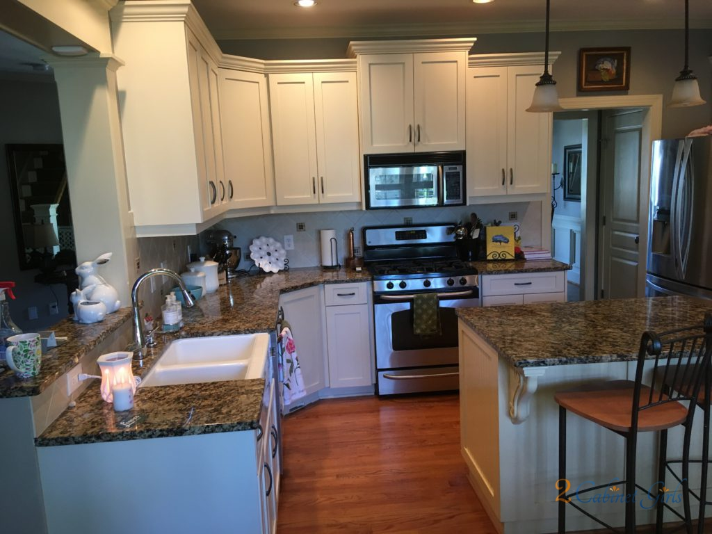 Kitchen Cabinets And Island Painted In Wake Forest S Heritage Neighborhood