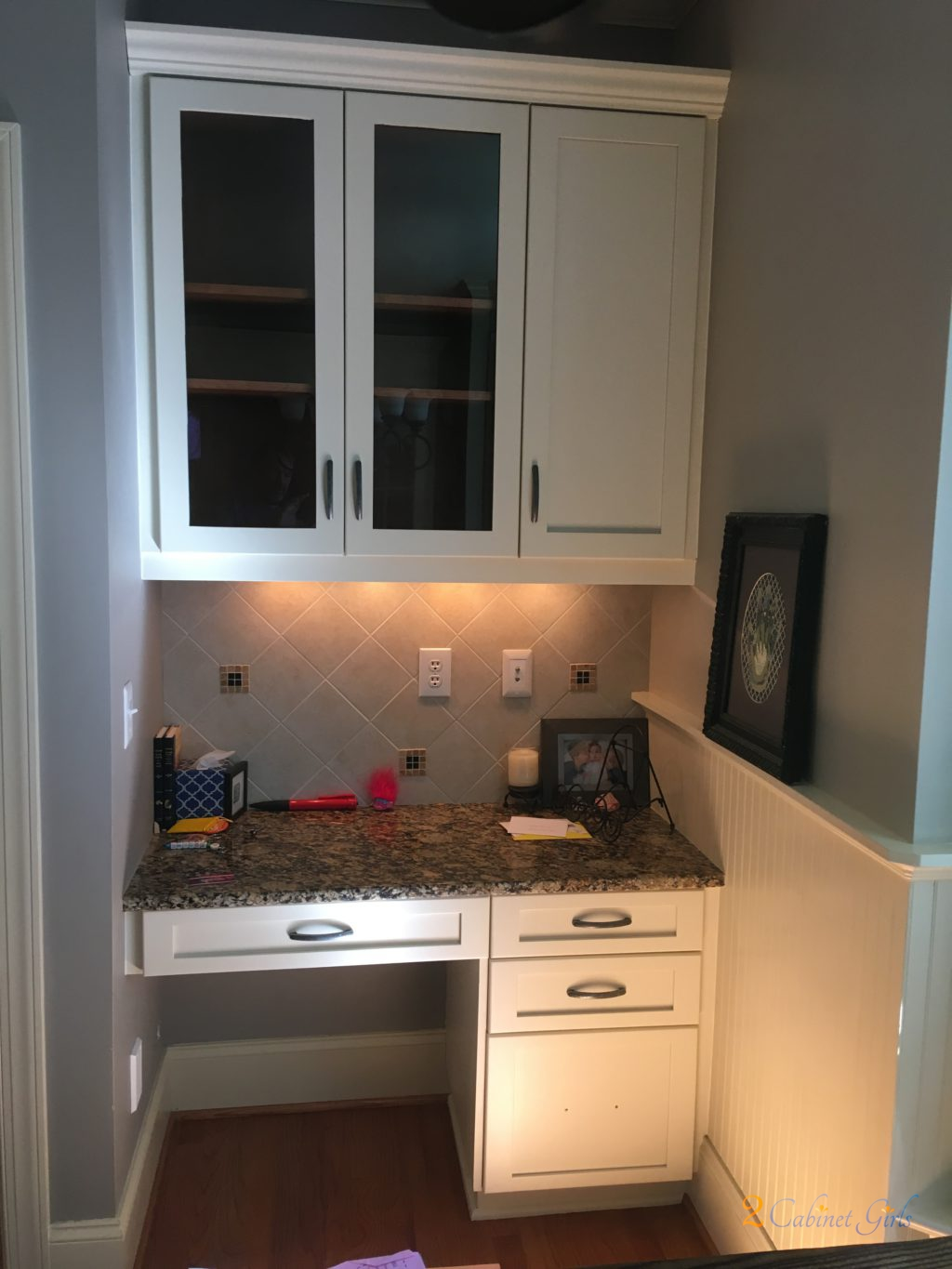 Kitchen Cabinets And Island Painted In Wake Forest S