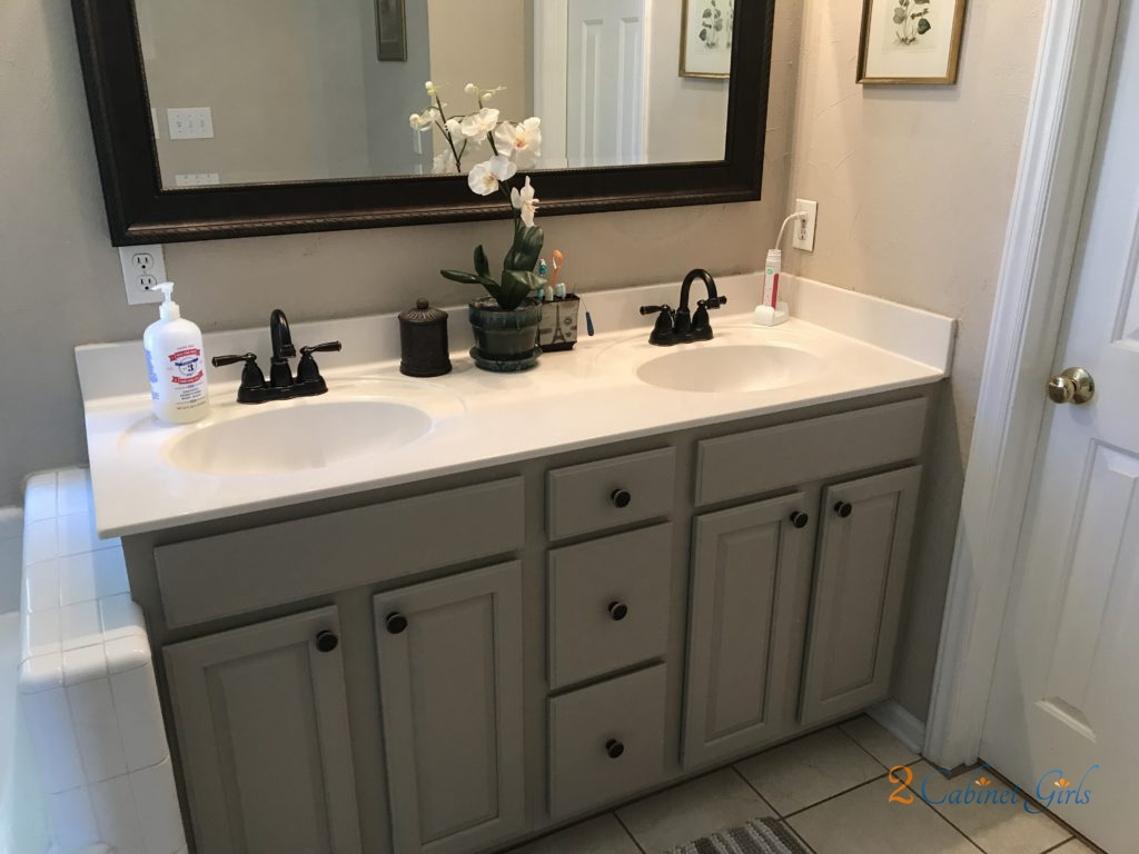 Painted Tile Bathroom Before And After