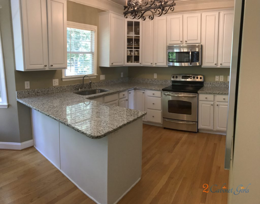 Pearly white oak kitchen upgrade 2 cabinet girls for Kitchen cabinets upgrade