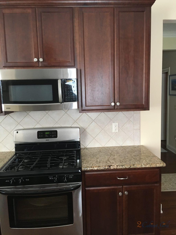 White Kitchen With Oak Trim