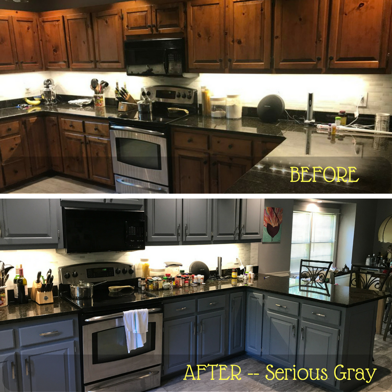 Before & Afters: - 2 Cabinet Girls