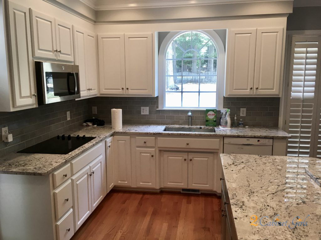 Extra White Kitchen Gray Matters Island 2 Cabinet Girls