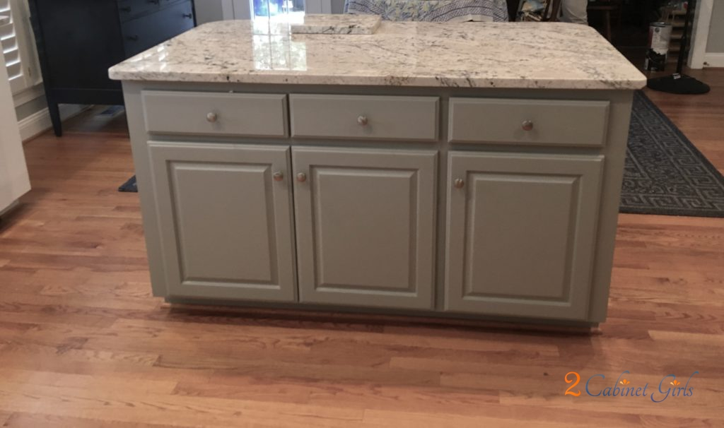Kitchen Island And Bathroom Vanity Painted Gray Matters In