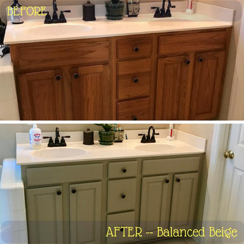 Balanced beige painted kitchen cabinets stenciled border for Beige painted kitchen cabinets