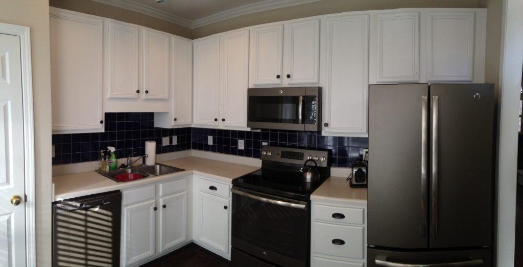 Super White Kitchen Update - 2 Cabinet Girls