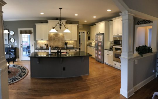 Acadia White & Galveston Gray Kitchen