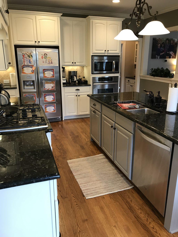 Acadia White Amp Galveston Gray Kitchen 2 Cabinet Girls