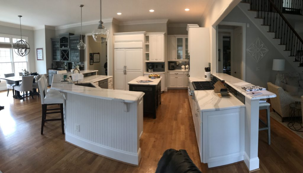 Exceptional We Used Zurich White On These Cabinets To Tie In With The New, Amazing  Counters. This White Has Just Enough Gray To Still Feel Bright, But Also  Blend Well ...