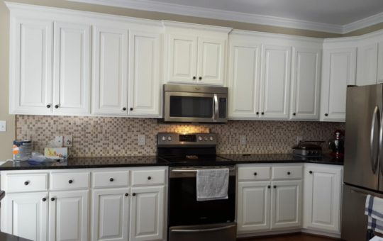 Oak Kitchen Cabinet Renovation – Greek Villa