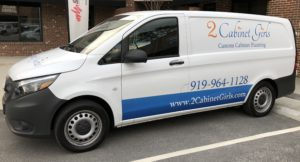 2 Cabinet Girls delivery van