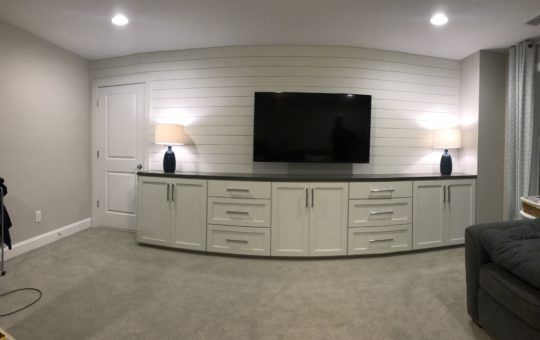 Pure White Custom Cabinetry & Shiplap