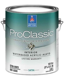 Sherwin Williams Pro Classic paint for painting cabinets