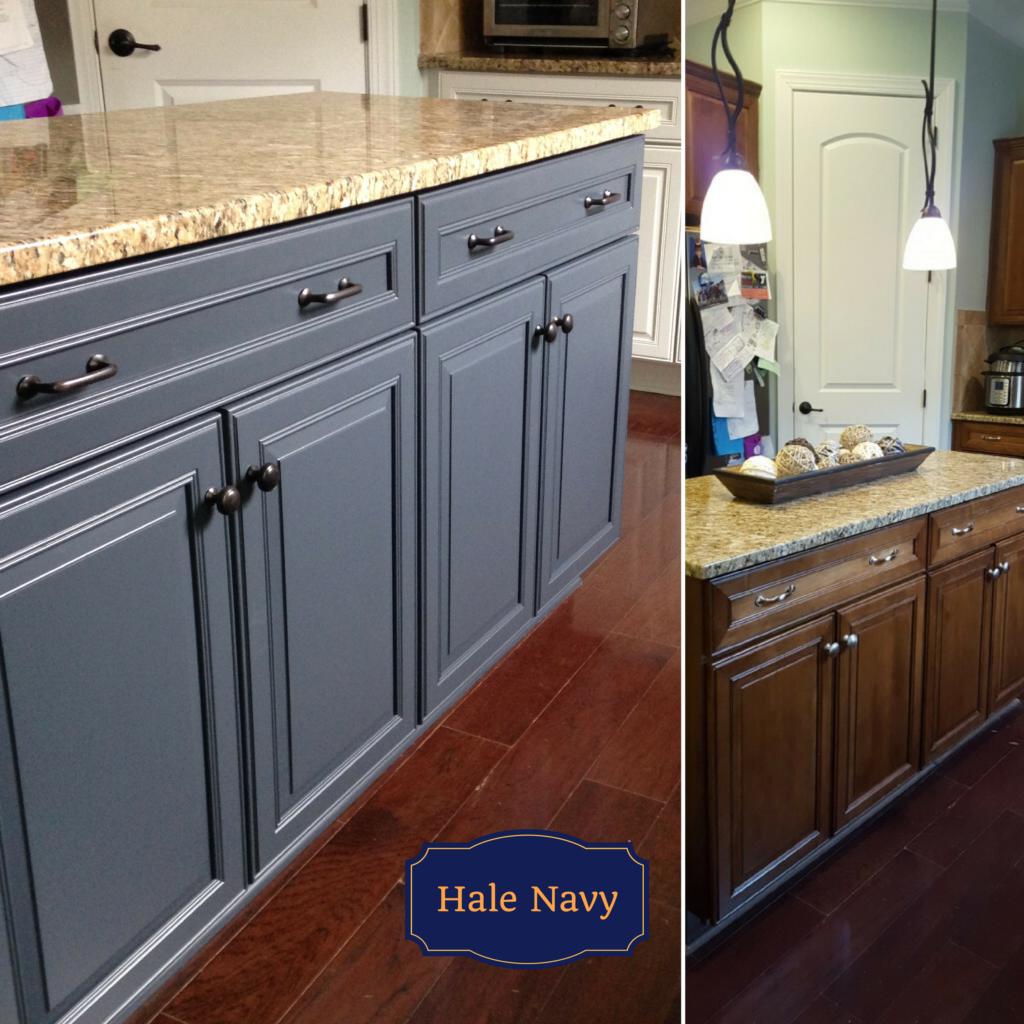 Extra White Hale Navy Kitchen 2 Cabinet Girls