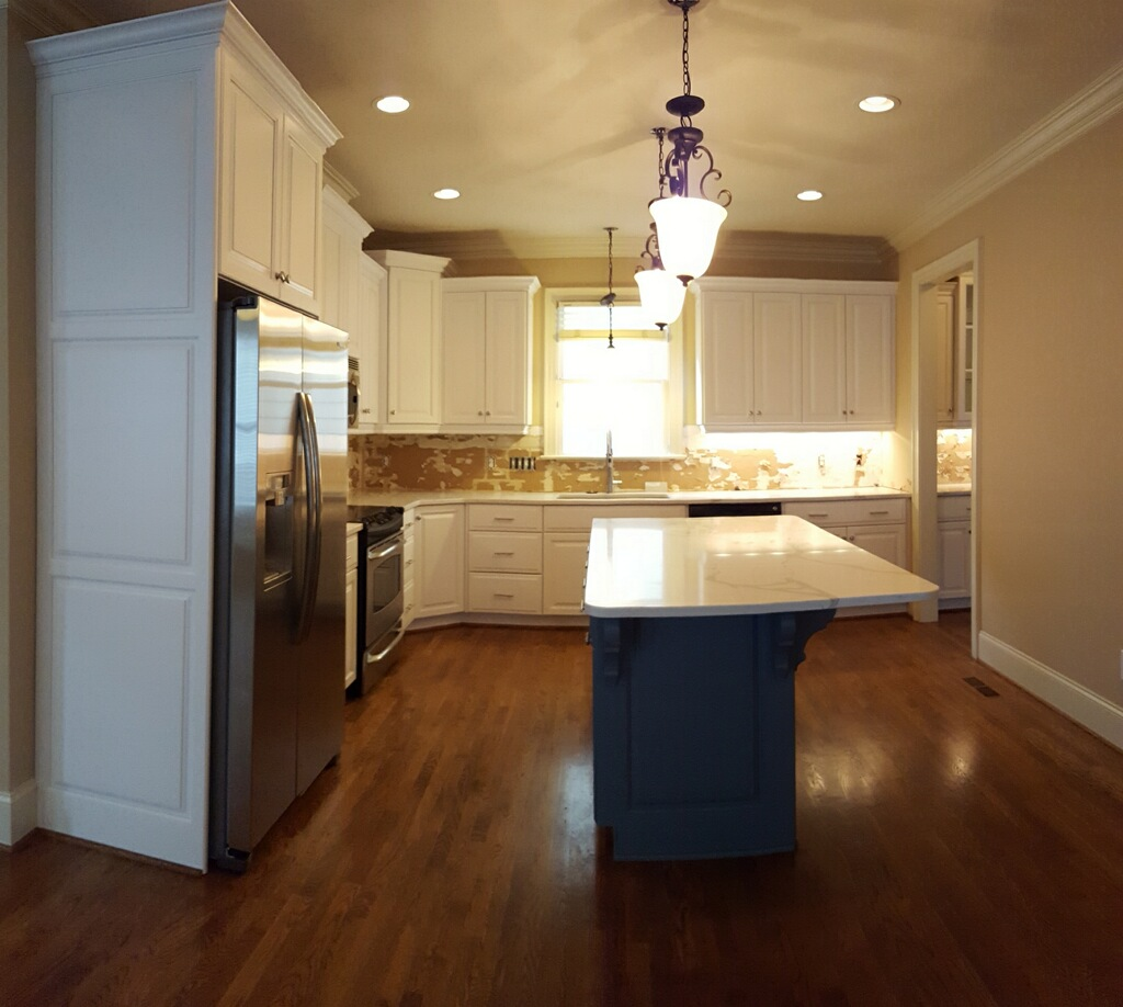 Benjamin Moore Normandy Kitchen Cabinets: Super White & Normandy Blue Kitchen
