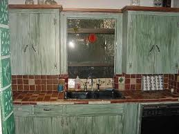 badly painted cabinets