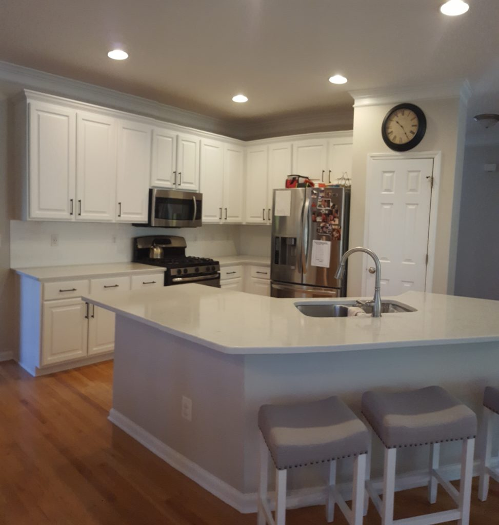 White Kitchen Cabinets Maintenance: Delicate White Kitchen