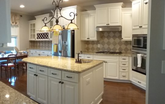 Creamy Kitchen & Island