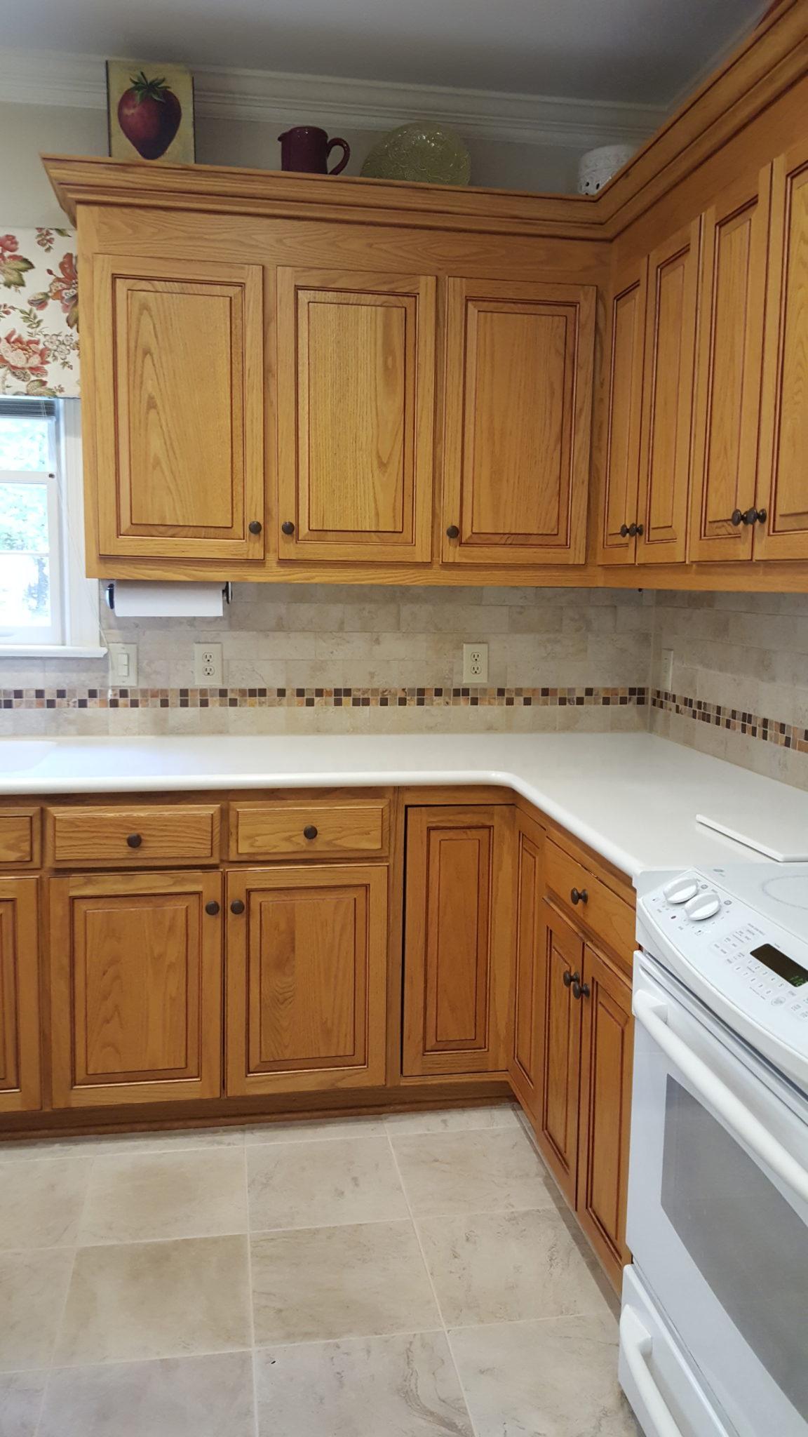 Color Match - Oak Kitchen & Laundry cabinets - 2 Cabinet Girls