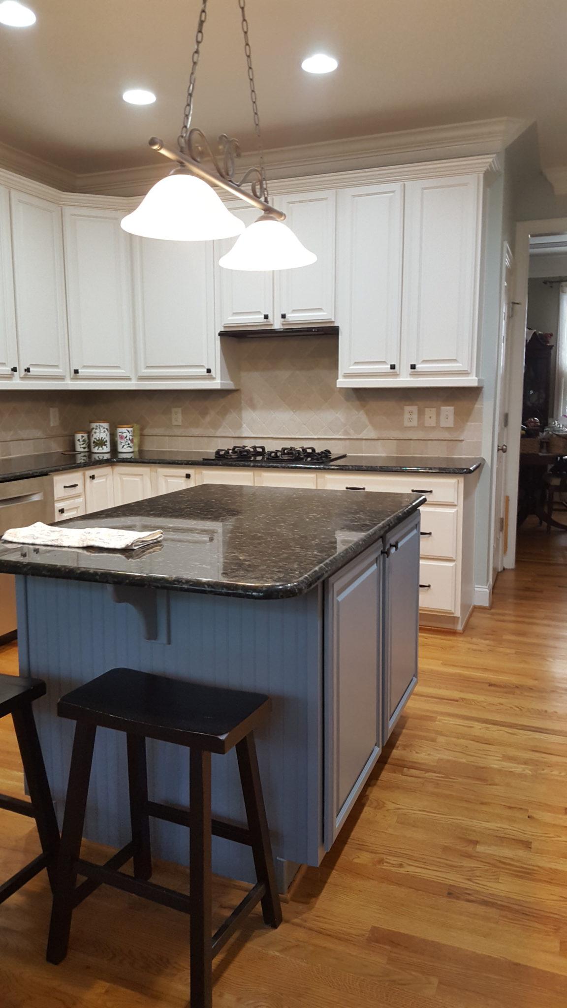 Divine White + Steely Gray Kitchen Cabinets - 2 Cabinet Girls