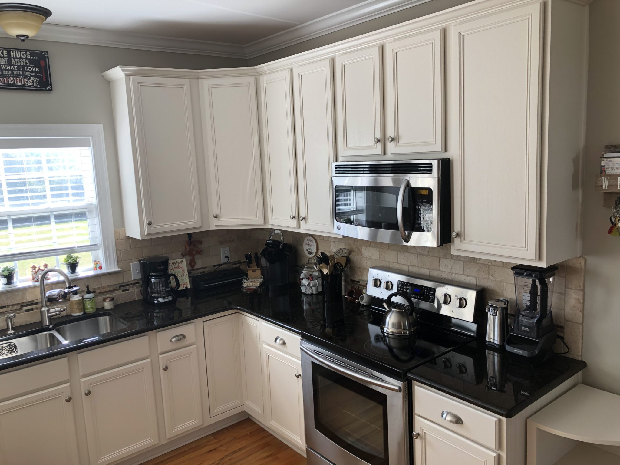 Panda White Oak Kitchen & Master Bath - 2 Cabinet Girls